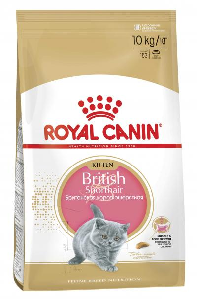 Корм для кошек Royal Canin KITTEN BRITISH SHORTHAIR 10000 г.