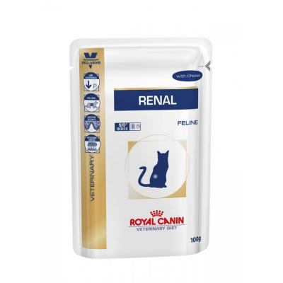 Корм для кошек Royal Canin RENAL FELINE WITH CHICKEN 100 г.