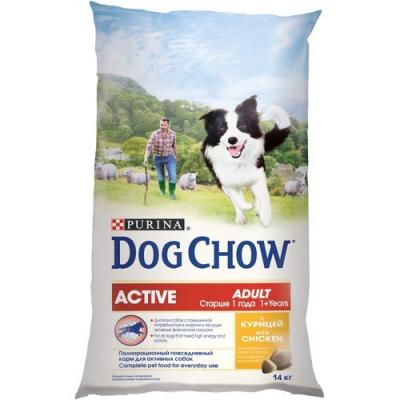Корм для собак Purina Dog Chow Adult Active Курица 14 кг