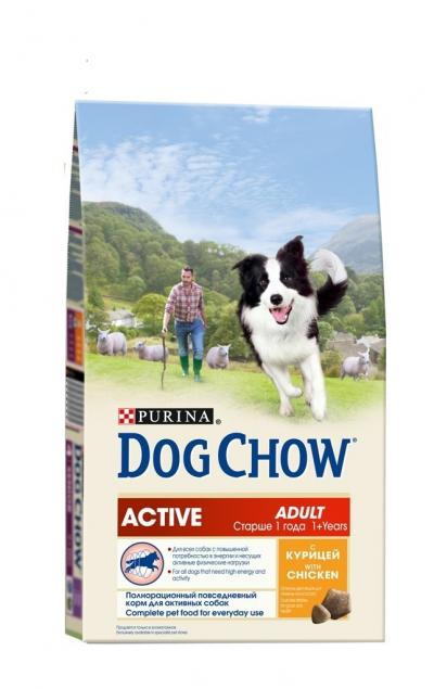 Корм для собак Purina Dog Chow Adult Active Курица 2,5 кг