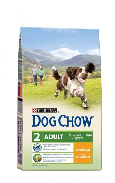 Корм для собак Purina Dog Chow Adult Курица 2,5 кг