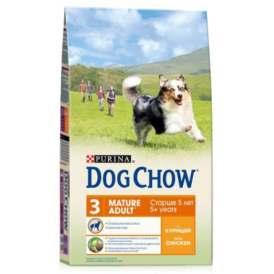 Корм для собак Purina Dog Chow Mature 5+ Курица 2,5 кг
