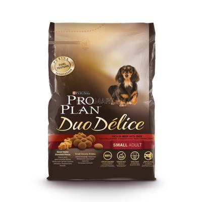 Корм для собак Purina Pro Plan Dou Delice Small & Mini Adult Говядина с рисом 2,5 кг
