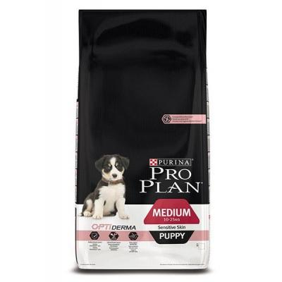 Корм для собак Purina Pro Plan OPTI Derma Sensitive Skin Medium Puppy Лосось с рисом 1,5 кг